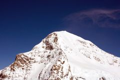 Peak of Eiger in Swizz Alps Royalty Free Stock Images