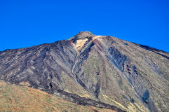 Peak of El Teide Volcano with cable railway Royalty Free Stock Photos