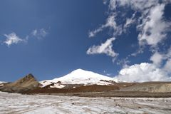 Peak Elbrus - highest point in Russia and Europe Royalty Free Stock Image
