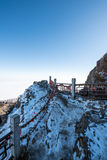 Peak of Emei Mountain in winter Stock Photos