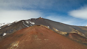 Peak of the Etna Volcano Royalty Free Stock Photos