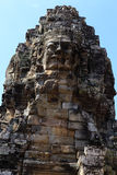 The Peak of Face Tower in Bayon Temple Stock Photography