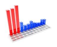 Peak in first season. Chart showing peak in first season, 3d render Royalty Free Stock Photos
