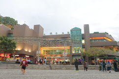Peak Gallaria shopping mall Hong Kong. People visit The Peak Galleria in Hong Kong. The Peak Galleria is a leisure and shopping complex located at the summit of Stock Photo