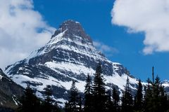 Peak, Glacier National Park. Photo of a sharp peak at Glacier National Park in Montana royalty free stock photo