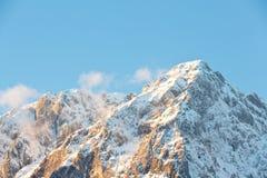 Peak of the Grimming mountain, Ennstal in Austria Stock Image