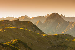 Peak of Höfats in the dawn Stock Images