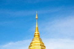 The Peak of history culture at lanna old country at chiangmai Province. The environment at chiangmai city with a good sunny ray along the cloud on the sky. the Royalty Free Stock Photography