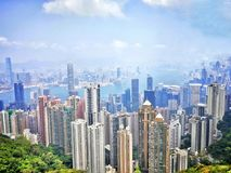 The Peak Hong Kong Stock Photo