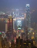 The Peak Hong Kong City In Mist Royalty Free Stock Photos