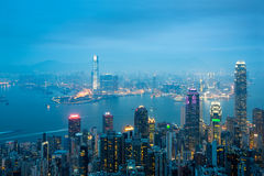 The Peak Hong kong skyline Royalty Free Stock Photo