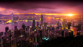 The peak. Hong Kong Sunrise, View from The peak, Hong Kong Stock Image