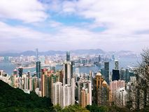 The Peak Hong Kong view Stock Photography