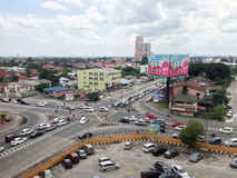 Peak hour in Kota Bharu, Kelantan. Kota Bharu, Malaysia. - October 17, 2013 ; One of the busiest road juntion on the peak hour in Kota Bharu, Kelantan Royalty Free Stock Photography