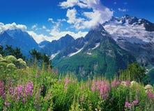 Peak Ine in Dombai. Western Caucasus, Russia stock photography