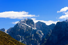 Peak of Jalovec - Slovenia Europe Royalty Free Stock Photo