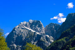 Peak of Jalovec - Slovenia Europe Stock Image