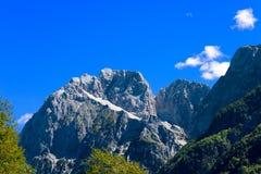 Peak of Jalovec - Slovenia Europe Stock Image