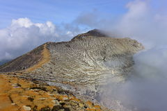 Peak of Kawah Ijen active volanic crater in East Java Stock Images