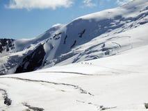 Peak Lenin glacier. Royalty Free Stock Photo