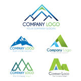 Peak logo and icons. Collection of corporate logo elements and icons Stock Images