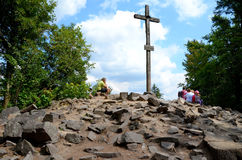 Peak Lysica (Holy Cross Mountains) Stock Images
