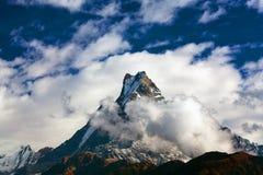 Peak Machapuchare, Nepal Stock Images