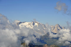 Peak Marmolada in Italian Alps. Stock Images