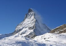 Peak Matterhorn in Swiss Alps Stock Photography
