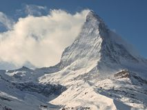 Peak Matterhorn, Zermatt, Switzerland Stock Images