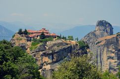 Peak Meteora church Royalty Free Stock Image