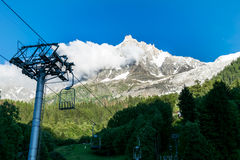 Peak of Mont Blanc Alps. Royalty Free Stock Photos