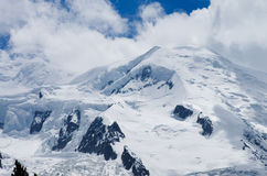 Peak of Mont-Blanc Stock Photos