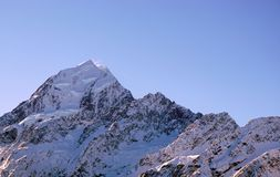 Peak of Mount Cook Aoraki in New Zealand Stock Image