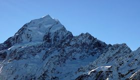 Peak of Mount Cook Aoraki in New Zealand Royalty Free Stock Photography