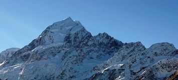 Peak of Mount Cook Aoraki in New Zealand Royalty Free Stock Photos
