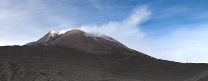 Mount Etna. The landscape with craters of Mount Etna, Sicily stock images