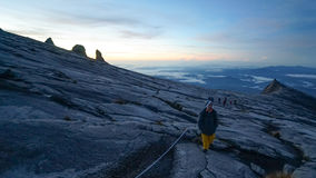 The peak of Mount Kinabalu Stock Photos
