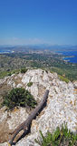 Peak of mount la Victoria Royalty Free Stock Image