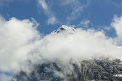 Peak of Mount Moench, Grindelwald, Bernese Oberland, Switzerland Royalty Free Stock Image