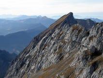 Peak of Mount Pilatus Stock Photography