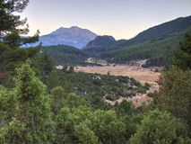 Peak of Mount Tahtali in evening, Turkey Stock Photo