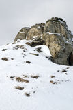 Peak of the mountain. Peak covered by the snow Royalty Free Stock Image