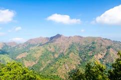 Peak mountain against blue sky Stock Photography