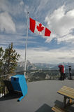 At the peak of the mountain in Canada Royalty Free Stock Photo