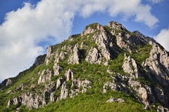 Peak of a mountain Stock Images