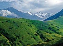 The peak of the mountain Kazbek. Stock Image