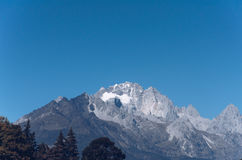 Peak of the mountain in Lijiang Stock Image