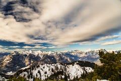On the peak of the mountain Royalty Free Stock Photos