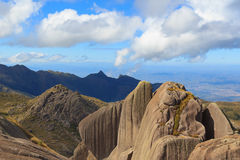 Peak mountain prateleiras  in Itatiaia National Park, Brazil. Peak mountain prateleiras sky clouds in Itatiaia National Park, Rio de Janeiro, Minas Gerais Royalty Free Stock Images